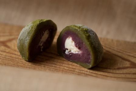 Azukiya, pâtisserie japonaise à Colmar, propose daifuku matcha framboise à la crème